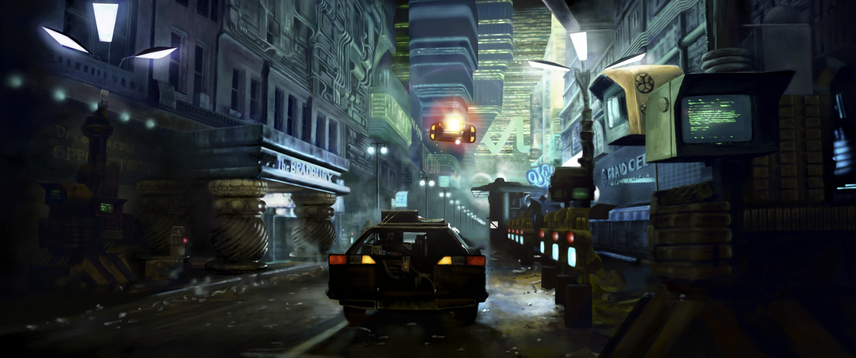 Blade Runner Street Scene – Digital Painting – Captain 3D presents…